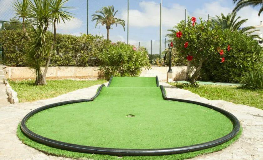 Mini golf field on the tropical beach
